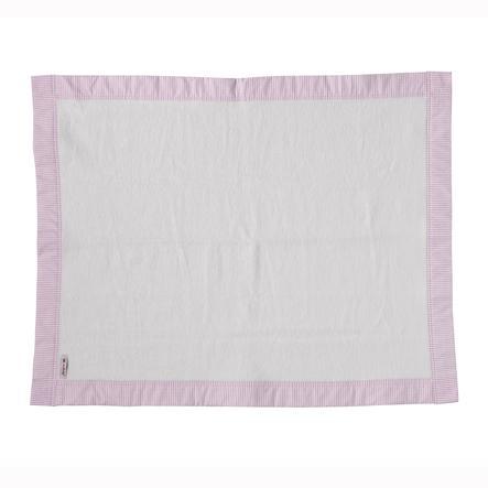 TiCAA Schmusedecke aus Baumwolle Pink