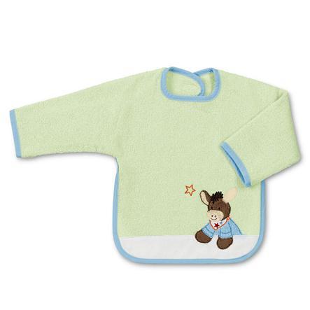 STERNTALER Sleeved Bib - Donkey Emmi, green