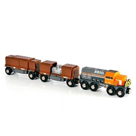 BRIO® WORLD Diesellok mit Güterwagen