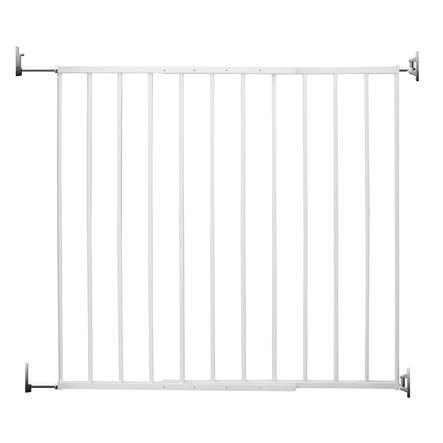 reer Barrière sécurité enfant escaliers/porte Basic Simple-Lock, métal, blanc