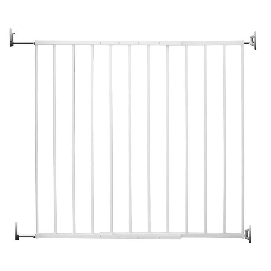 REER Barrière de porte et d'escaliers à vis Basic Simple-Lock, métal, blanc