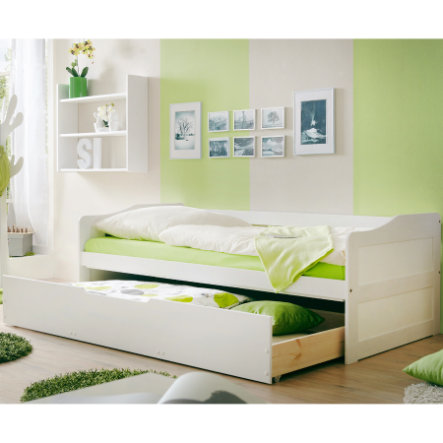TICAA Couch Bed MARINA with drawer, white