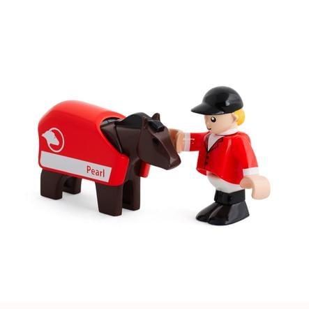 BRIO Kůň s jezdcem