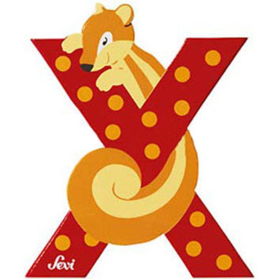 SEVI písmenko se zvířátkem X