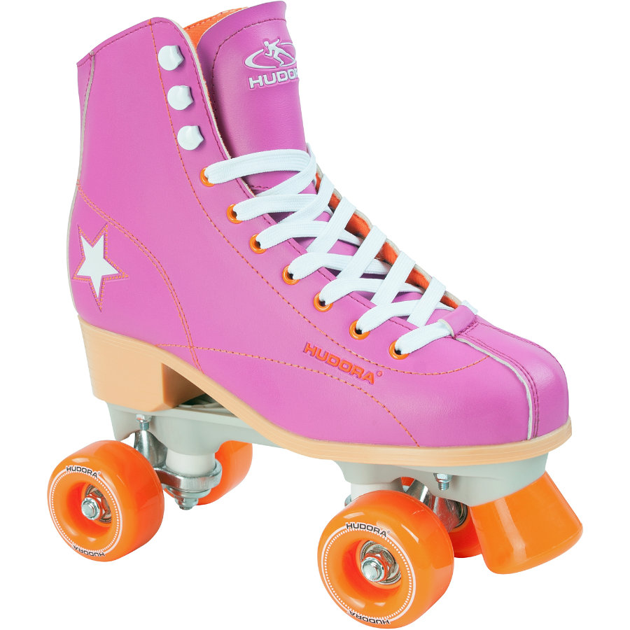 HUDORA Wrotki Roller Disco lila/orange rozm. 37, 13173