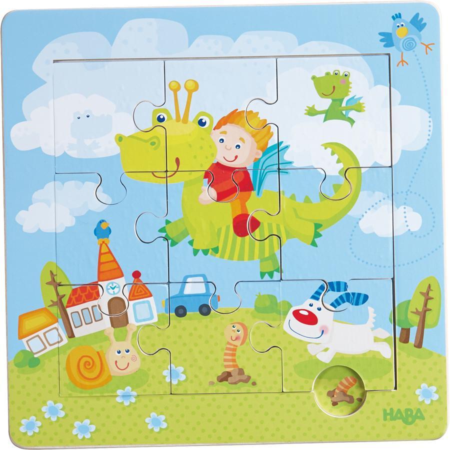 HABA Puzzle-cadre en bois Les chevaliers des dragons 301471