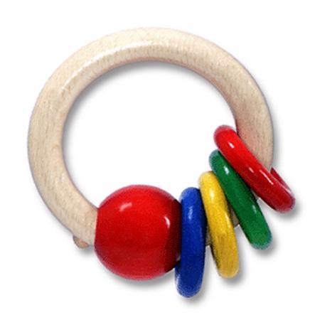 HESS Hochet rond avec 4 anneaux
