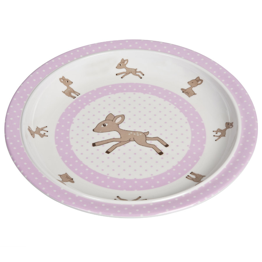 LÄSSIG Melamine Plate Lela light pink