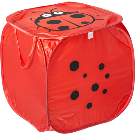 BIECO Coffre à jouets Pop Up Coccinelle