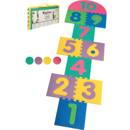 PLAYSHOES EVA-Matte Hüpfspiel Puzzlematten 14-teilig