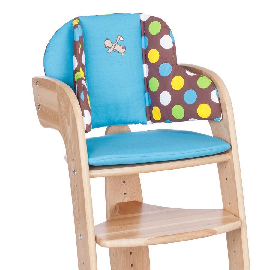 HERLAG Réducteur de siège pour chaise haute Tipp Topp Comfort IV WALDI bleu/marron à pois