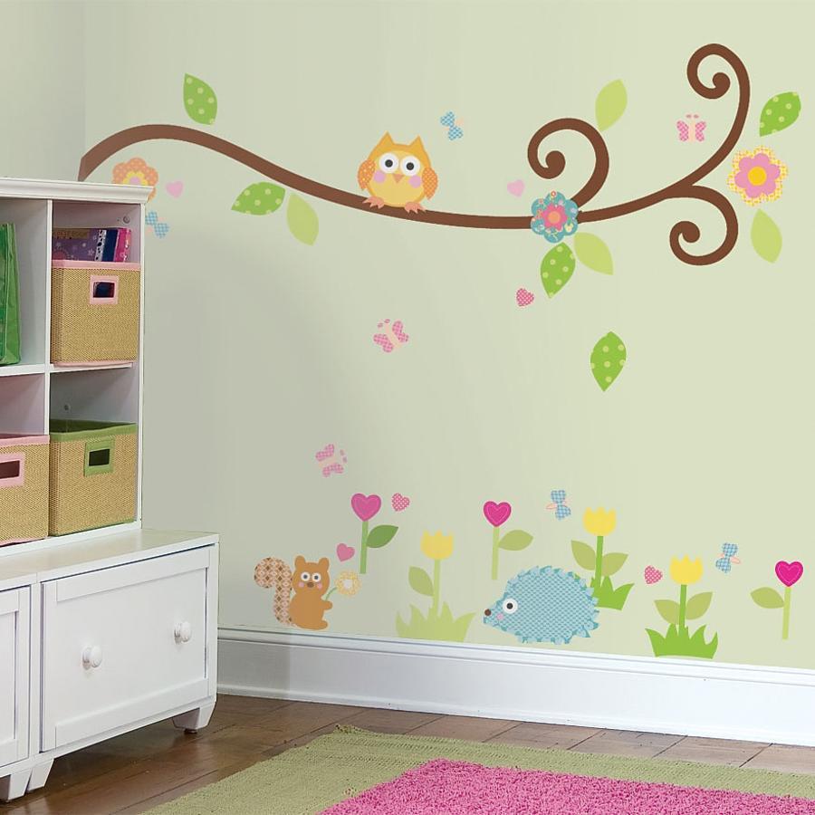 ROOMMATES nálepky na stěnu Scroll Tree Branch