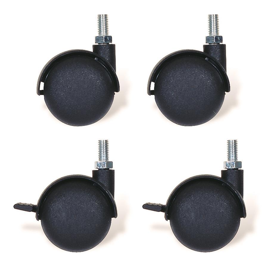 PINOLINO Set de roulettes pivotantes avec filetage