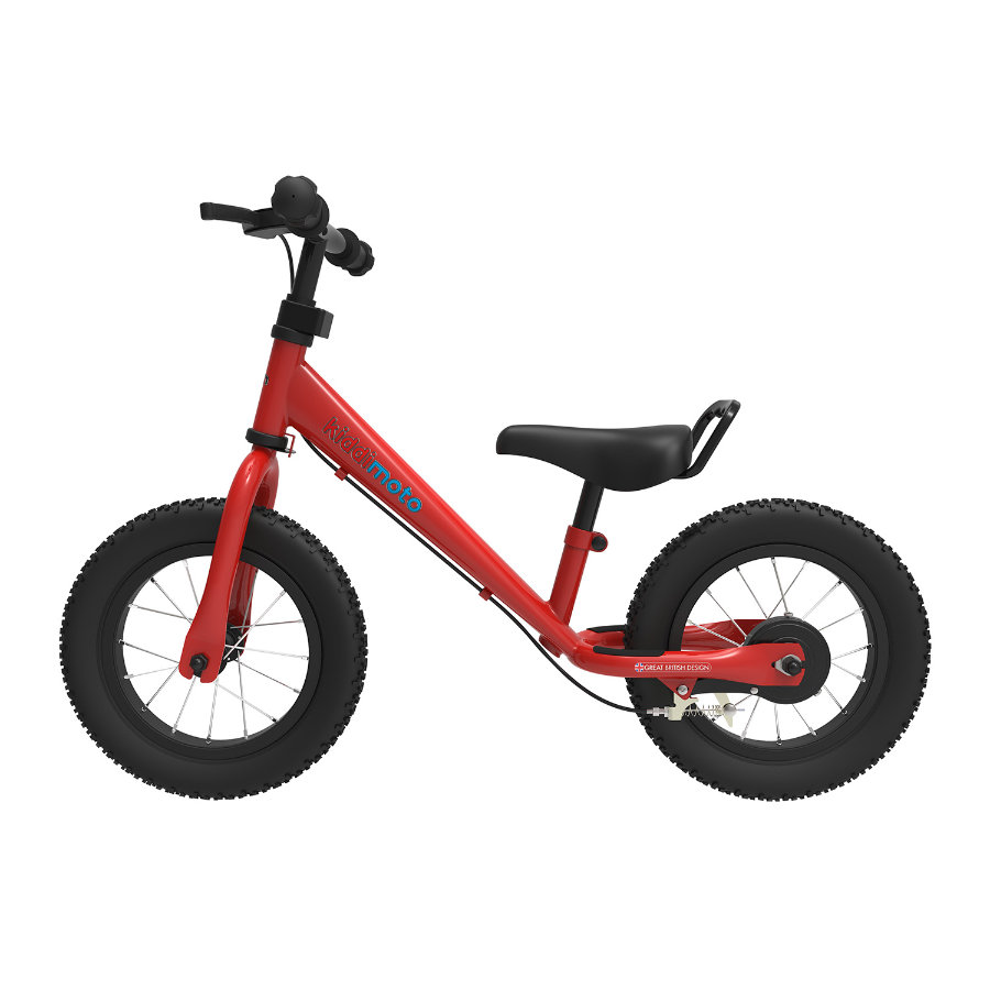 kiddimoto® Loopfiets metaal Super Junior Max - Red