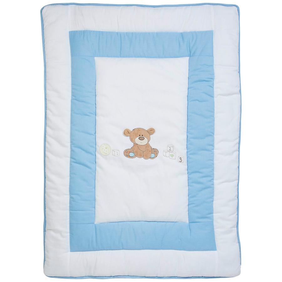 FILLIKID Hrací deka - medvídek, světle modrá