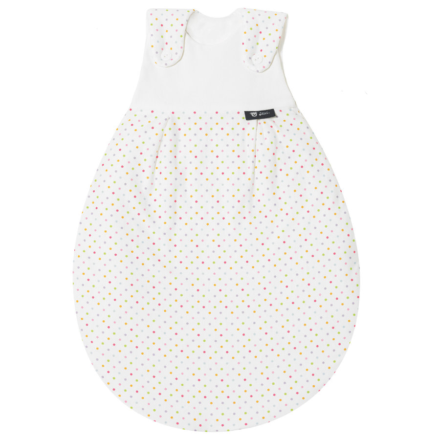 ALVI Baby Outer Sleeping Bag cotton jersey, Colourful Dots - size 68/74 cm