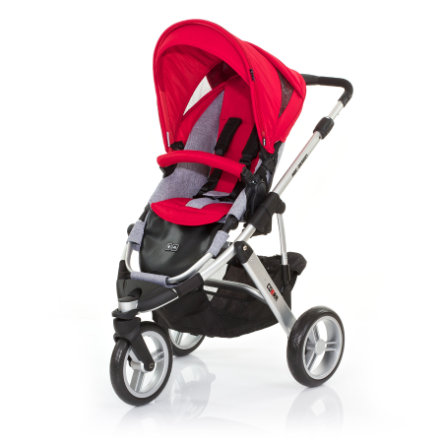 ABC DESIGN Kinderwagen Cobra cranberry Gestell silver / graphite