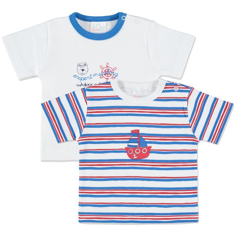 PINK OR BLUE Lyhythihainen paita, 2 kpl, valkoinen/sininen