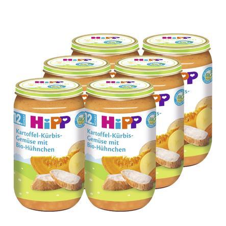 HiPP Bio Kartoffel-Kürbis-Gemüse mit Bio-Hühnchen 6 x 250g