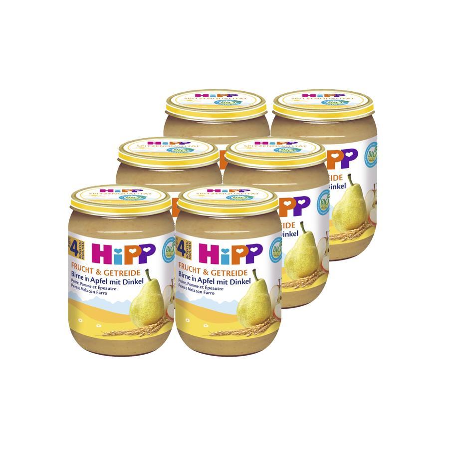 HIPP Bio Frucht & Getreide Birne in Apfel mit Dinkel 6x190g