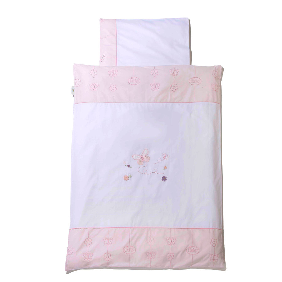 Easy Baby Beddengoed 80x80cm Butterfly rose (415-85)