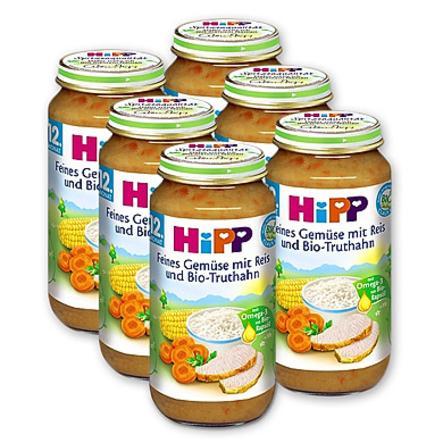HiPP Bio Feines Gemüse mit Reis und Bio-Truthahn 6 x 250 g