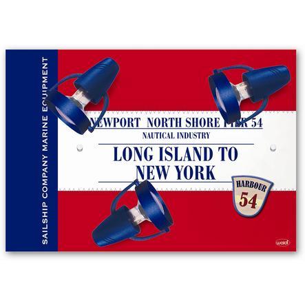 WALDI Taklampe Long Island, rød, 3 x R50 maks. 40W / E14 230V