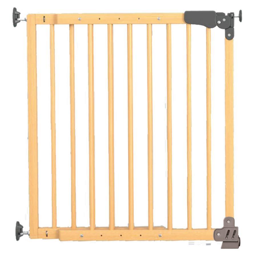 REER Barrière de porte et d'escalier à visser ou à bloquer Basic Active-Lock, bois, naturel