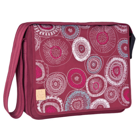 LÄSSIG Wickeltasche Casual Messenger Bag Fossil Rumba Red