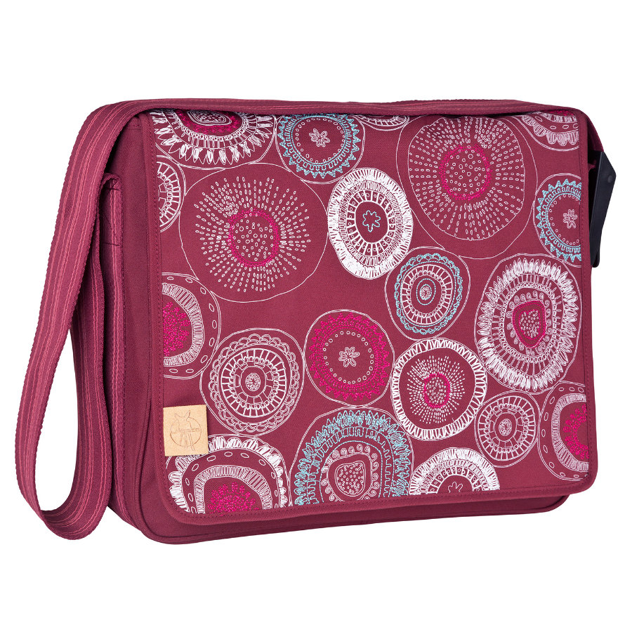 LÄSSIG Luiertas Casual Messenger Bag Fossil Rumba Red