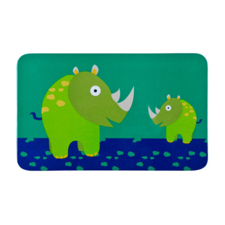 LÄSSIG Frühstücksbrett Wildlife Rhino grün