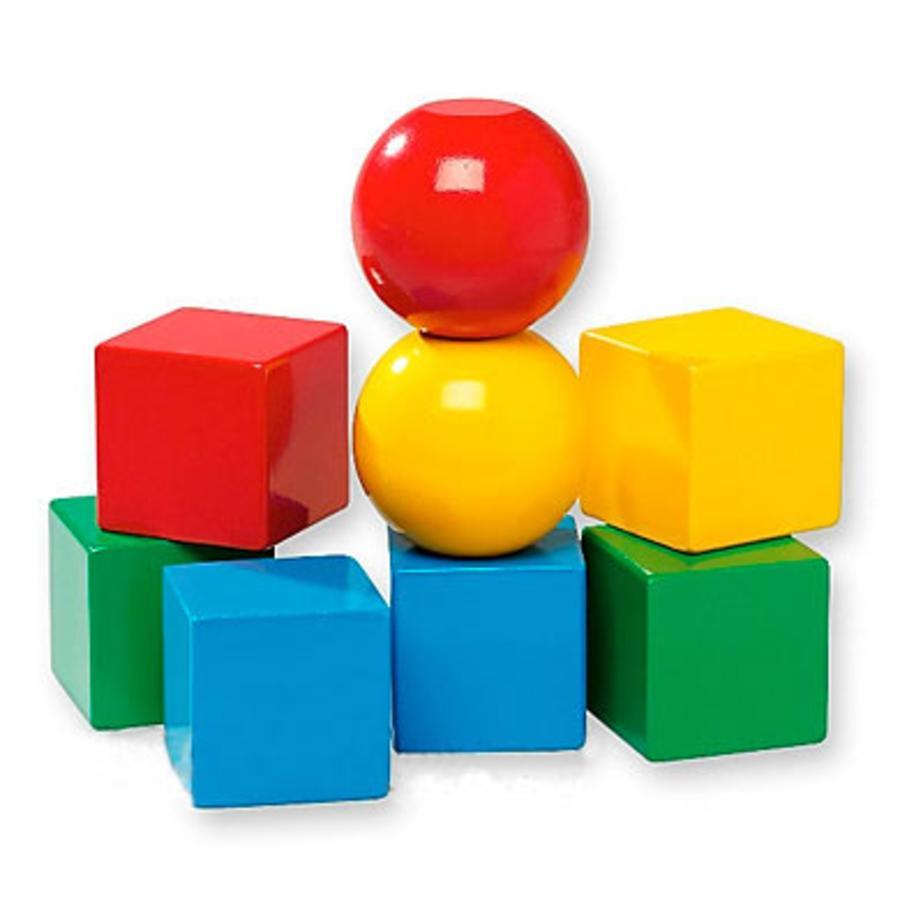 BRIO Dřevěné kostky,, magnetické,  8 dílů
