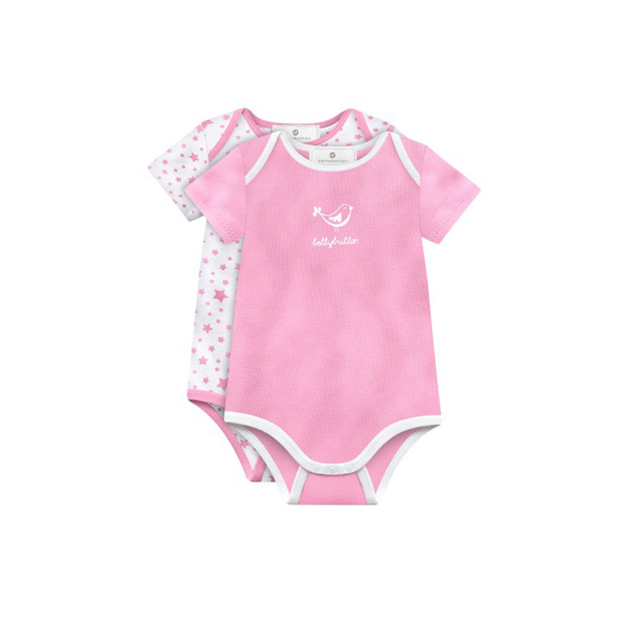 BELLYBUTTON Baby 2-Pack Bodies 1/4 Arm pale rose