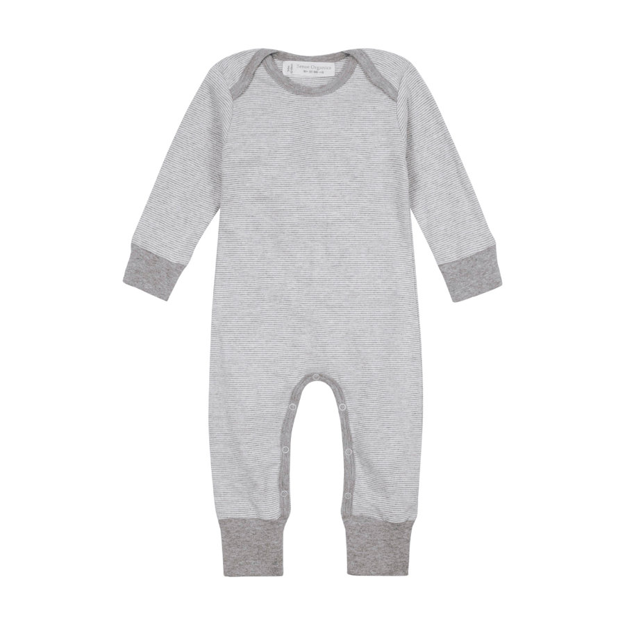SENSE ORGANICS Baby Overall WAYAN pinny stripes grey marl