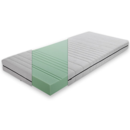 TiCAA 7-Zonen Matratze Comfort 90 x 200 cm