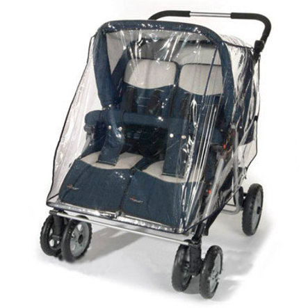 REER Rain Cover for Twins / Siblings Stroller