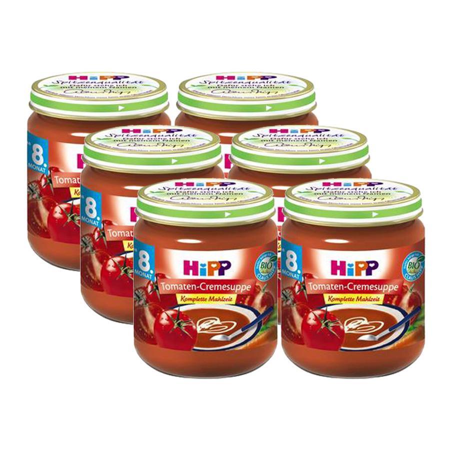 HiPP BIO Tomaten-Cremesuppe Komplette Mahlzeit 6-er Pack 6 x 200 g