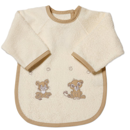 Easy Baby Bib with Sleeves Little lions