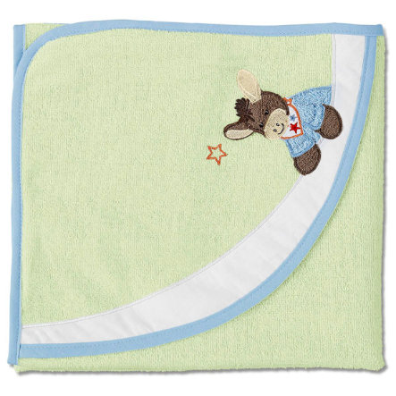 STERNTALER Hooded Bath Towel Donkey Emmi 80 x 80 cm