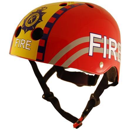 kiddimoto® Helm Design Sport, Brandweer - Maat S, 48-53cm