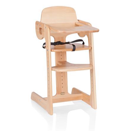 HERLAG Krzesełko do karmienia Tipp Topp IV drewno bukowe kolor naturalny