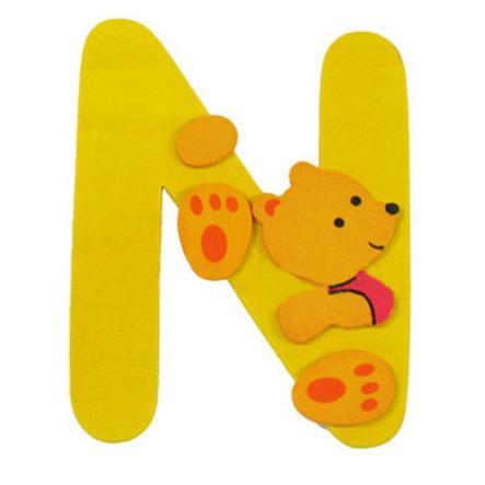 """BIECO Medvědí písmenko """"N"""""""