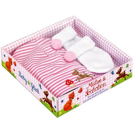 COPPENRATH Presentförpackning, mössa och sockar -  rosa - babylycka