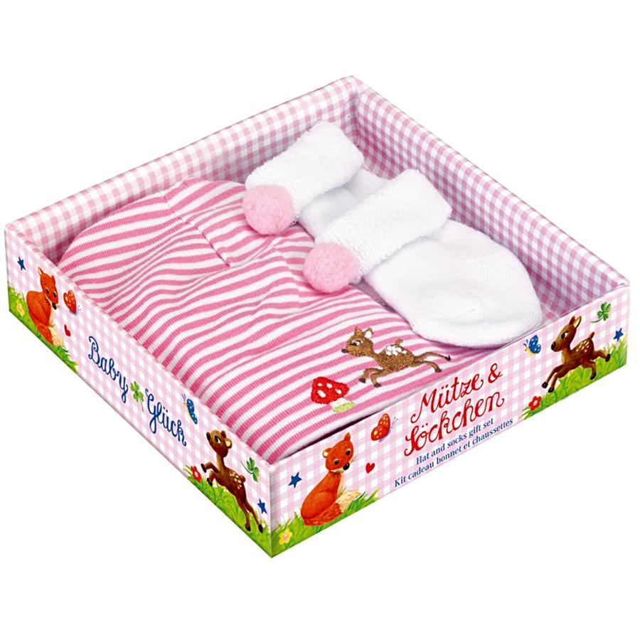 COPPENRATH Geschenkset Muts en sokken, roze - Babygeluk