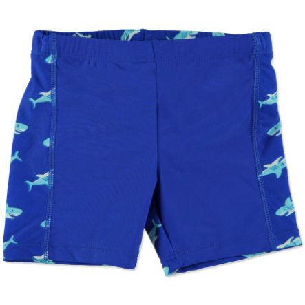 PLAYSHOES Boys UV-protection Bathing Trunks SHARK navy