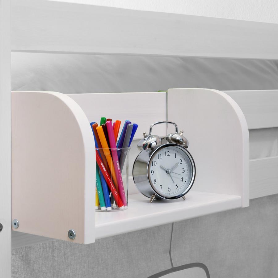 TiCAA Einhängeregal für Hoch- und Etagenbetten klein weiß