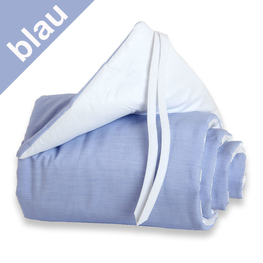 TOBI Babybay Spjälsängsskydd Midi / Mini blå/vit
