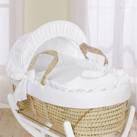LEIPOLD Navicella in Vimini con Capotta Design Noblesse bianco