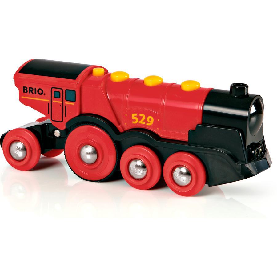 BRIO  Červená lokomotiva na baterie Lola
