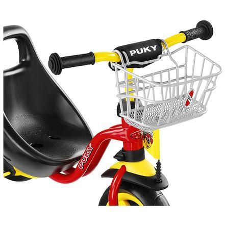PUKY Cesta de manillar LKDR plateada para triciclo